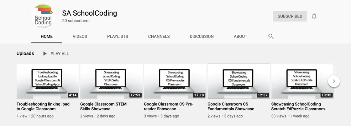 SchoolCoding - Google Classroom Showcase